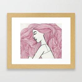Bed hair  Framed Art Print