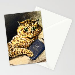 """Cat Tales"" Cat Reading Book - Louis Wain Stationery Cards"