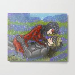 Ladynoir in Bluebells Metal Print