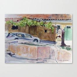 Granes Fountain Canvas Print