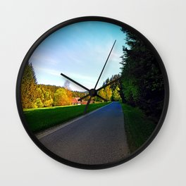 Country road on a spring afternoon | landscape photography Wall Clock