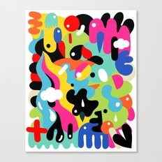 Color blobs Canvas Print