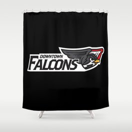 Downtown Falcons Full Logo Shower Curtain