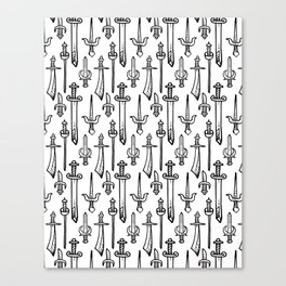 Swords & Daggers Pattern Canvas Print