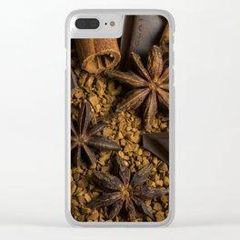 Coffee Star Anise chocolate Cinamon Clear iPhone Case