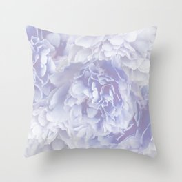 Flower Bouquet In Pastel Blue Color - #society6 #buyart Throw Pillow