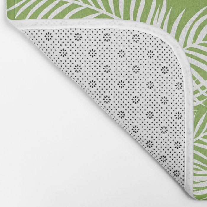 Palm Leaves_Greenery Bath Mat