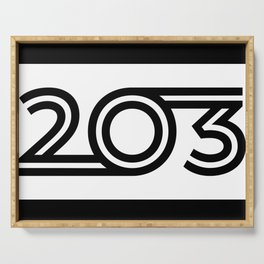 203 - Digits - Black with Black Border Serving Tray
