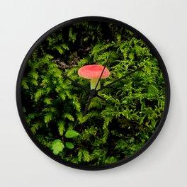 Lonely Mushroom Wall Clock