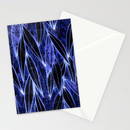 Blue Bamboo Night Print Stationery Cards