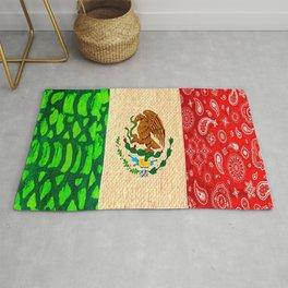 Vintage Mexican Flag Rug