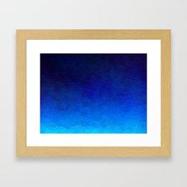 Cyan Circular Framed Art Print