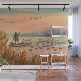 Duck Hunting On A perfect Day Wall Mural