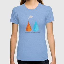 Water and Fire- A Tragic Love Affair T-shirt