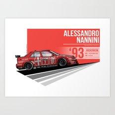 Alessandro Nanni - 1993 Hockenheim Art Print