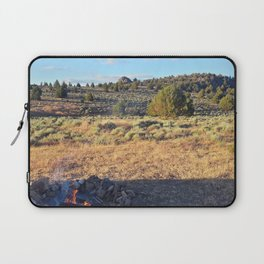 Campfire in the high desert Laptop Sleeve