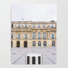 Buren's Columns, Le Palais Royal Courtyard, Paris, France Poster