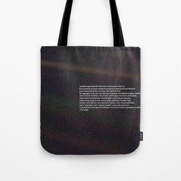 Carl Sagan Pale Blue Dot Quote Tote Bag