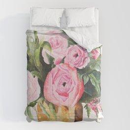 Heather's Arrangement Watercolor Painting Comforters