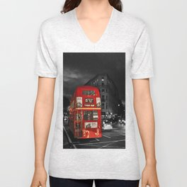 Red Routemaster London Bus Unisex V-Neck