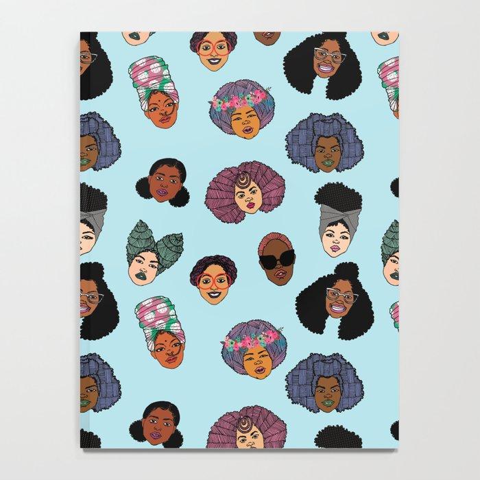 Black Hair Magic - Blue Notebook