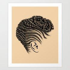 Crown: Braided Updo Art Print