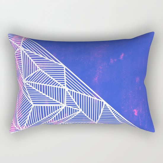 B Rays Geo Punk Rectangular Pillow