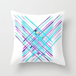 Improvised Geometry Nr. 2, Abstract Throw Pillow