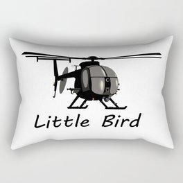 MH-6 Little Bird Helicopter Rectangular Pillow