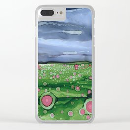 Field of Poppies Clear iPhone Case