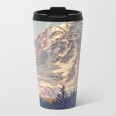 Mount Rainier Retro Metal Travel Mug