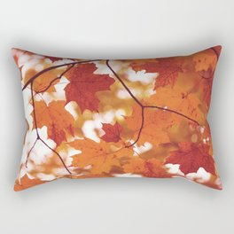 Fluttering from the Autumn tree Rectangular Pillow