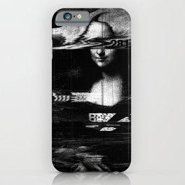Mona Lisa Glitch iPhone Case