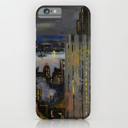 View of the Hudson River from the New York Skyline by John Whorf iPhone Case