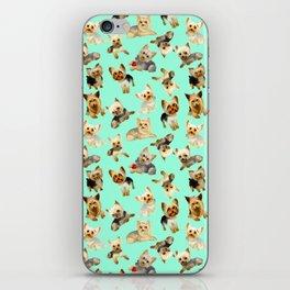 Yorkie Pattern iPhone Skin