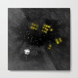 City Sky at Night Metal Print