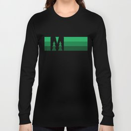 MN Logo - Green Stripes Long Sleeve T-shirt