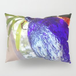 Blue glass and plant Pillow Sham