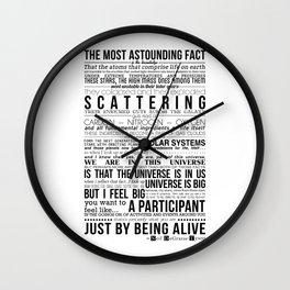Neil DeGrasse Tyson Science Manifesto Wall Clock