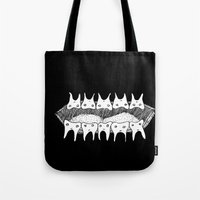 teeth Tote Bags featuring Teeth by Addison Karl