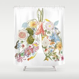 Floral art in a lung format. For smart people. Only fresh air inside. Shower Curtain