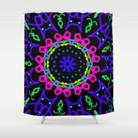 kindle Shower Curtains featuring Nightowl by Tammi Hofstetter