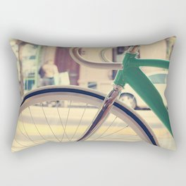 Geen Mint Bicycle in the City (Retro - Vintage Photography) Rectangular Pillow