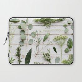 Green Botanical Flowers Laptop Sleeve