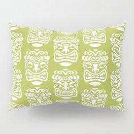 Tiki Pattern Chartreuse Pillow Sham