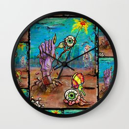 Eat me Gently Wall Clock
