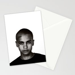 """""""Dominic Fike - Black and White Tri-blend"""" Stationery Cards"""
