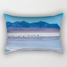 Flamingoes in the Atacama Desert, Bolivia Rectangular Pillow