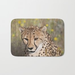 Cheeta Head looking Bath Mat