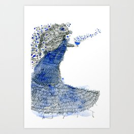 Spreading love Art Print